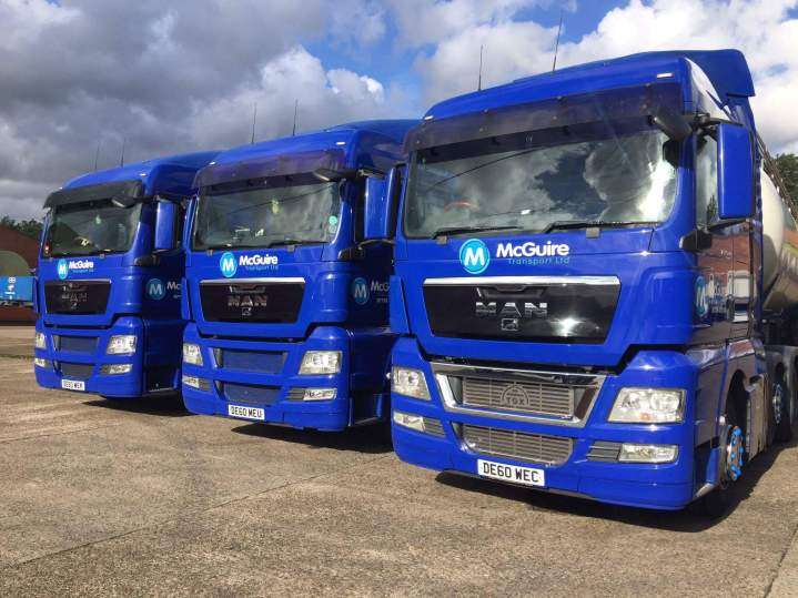 McGuire Transport MAN tractor units